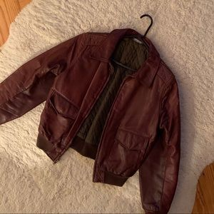 Authentic Red Leather Coat